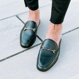 Sam Edelman Black Linnie Leather Slip On Mules 7